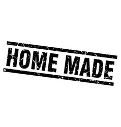 Square grunge black home made stamp vector