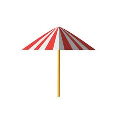 umbrella equipment picnic shadow vector image
