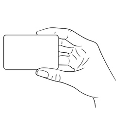 Woman hand holding a plastic card on white vector