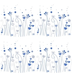 Blue grass pattern vector