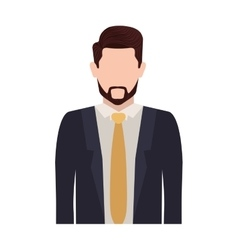 Half body silhouette man with necktie vector
