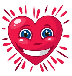 Smiling heart 3d vector