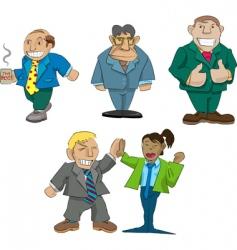 Office caricatures vector