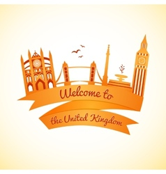 Logo landmarks of united kingdom vector