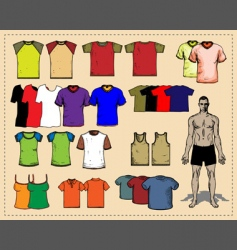 Sport tees color vector