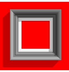 Empty picture frames isolated on the red vector