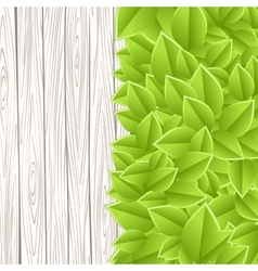 wall with leaves vector image