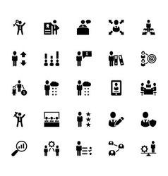 Human resource icons 4 vector