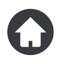 Monochrome round home icon vector
