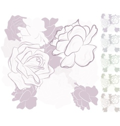 seamless background with roses vector image