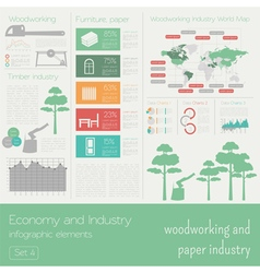 Economy and industry Woodworking and paper vector image