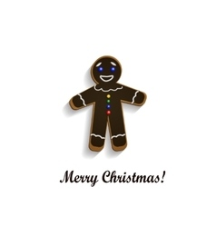 Gingerbread chocolate man vector
