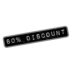 80 percent discount rubber stamp vector