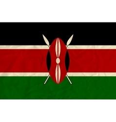 Kenya paper flag vector