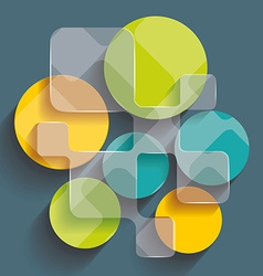 Background with cubes and squares elements vector