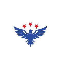 Bird eagle star logo vector