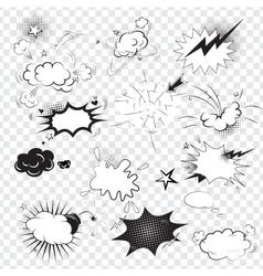 Blank text comic black speech bubbles in pop art vector image vector image