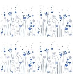 Blue grass pattern vector