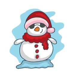 Christmas snowman funny collection stock vector