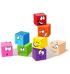 colorful childish cubes vector image vector image
