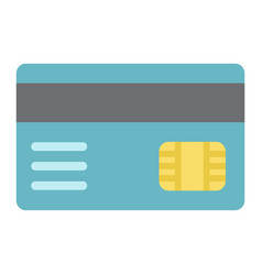 Credit card flat icon bank and business vector