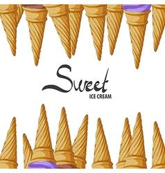 Crunchy waffle cone vector