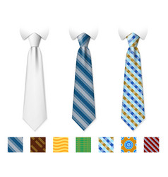 customizable neckties templates with vector image vector image