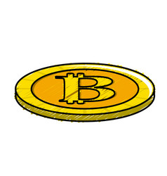 Digital bitcoin currency and electronic financial vector