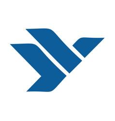 eagle or falcon logo design vector image