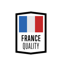 France quality isolated label for products vector