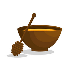 Honey spa therapy icon vector