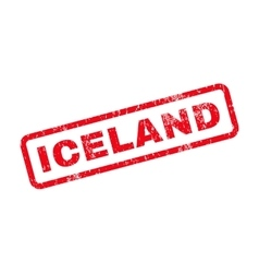 Iceland text rubber stamp vector