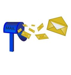 mailbox and letter vector image