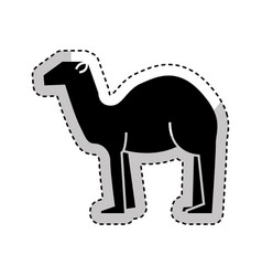 manger camel figure silhouette icon vector image vector image