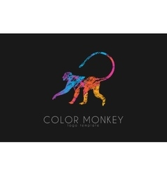 Monkey logo Color monkey logo Creative monkey vector image