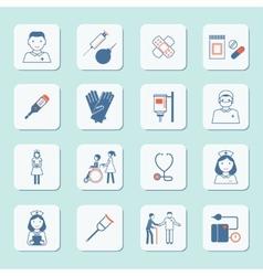 Nurse icon set vector image vector image
