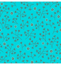 Seamless floral pattern with small flowers Floral vector image vector image
