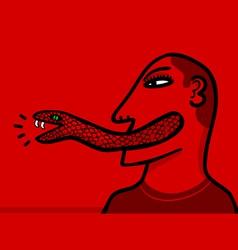 snake tongue vector image vector image