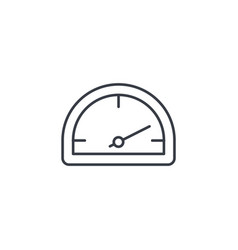 speedometer dashboard thin line icon linear vector image
