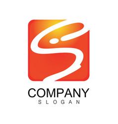 square letter s company logo vector image