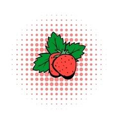 Strawberry comics icon vector image
