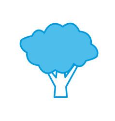 tree eco symbol vector image