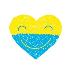 Ukraine heart vector