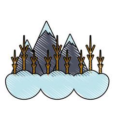 winter image vector image