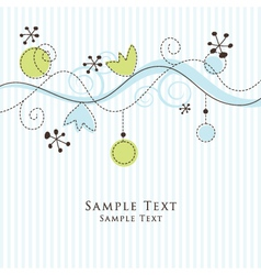 Floral pattern card vector