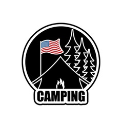 American camping logo emblem for accommodation vector