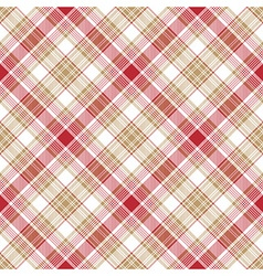 Beige red white fabric seamless pattern vector