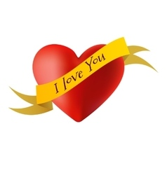 Decorations in the form of hearts with the words I vector image
