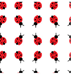 Seamless pattern with color ladybug vector