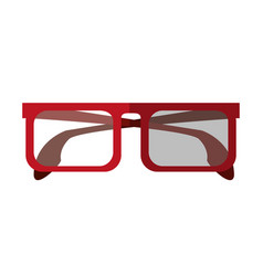Square frame glasses icon image vector